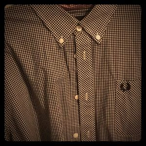 Classy FRED PERRY Gingham Button-down XXL VG